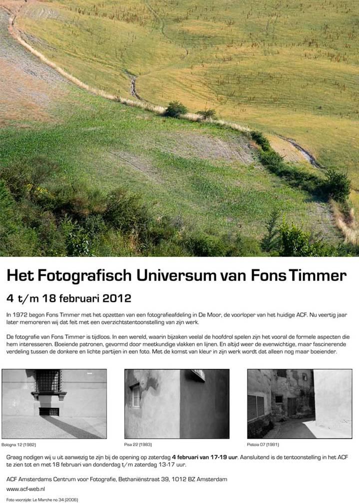Fons Timmer Fotografisch Universum flyer